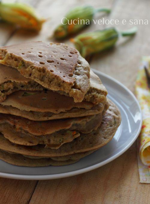 Pancake al farro e fiori di zucca