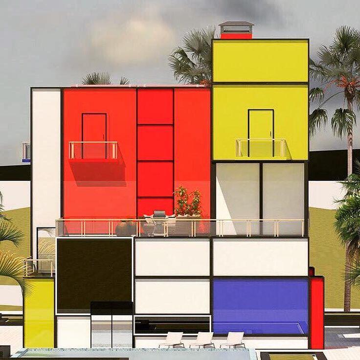 Mondrian house architecture art