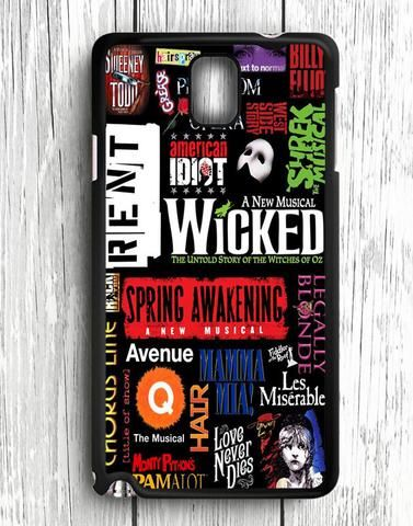 Wicked Broadway Musical Collage Samsung Galaxy Note 3 Case