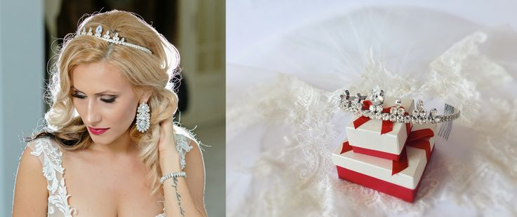Princess head crown, princess tiara, swarovski crown, swarovski princess tiara, headband, headpiece crystal clear, bridal tiara, wedding crown, princess crown