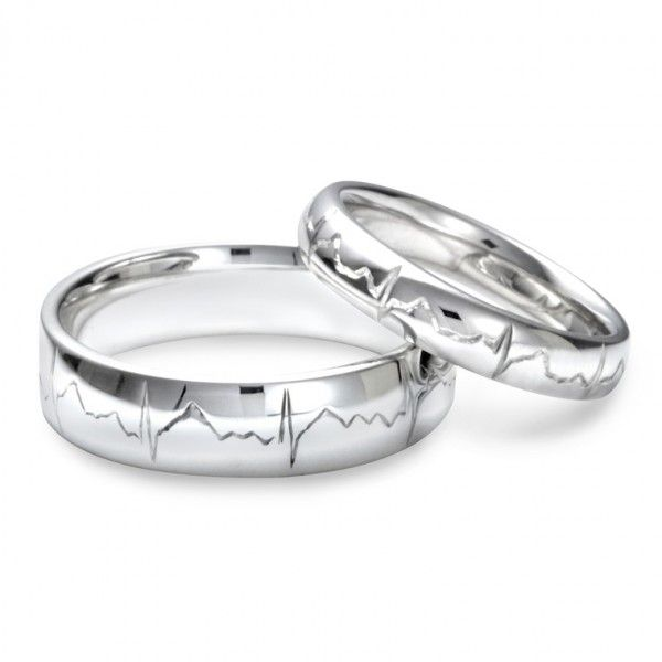 his and hers wedding bands~ suit my hubby and I after recent events love these