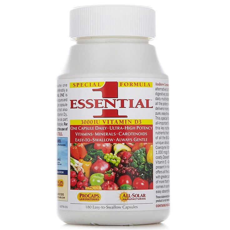 Andrew Lessman Essential-1 with Vitamin D3 - 180 Capsules