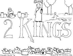 2 kings coloring page - Books Bible Coloring Pages