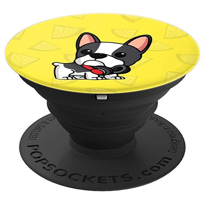 Cute Yellow French Bulldog Popsockets Grip And Stand For Phones