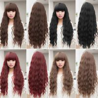 Womens Lolita Curly Wavy Long Wigs Cosplay Party Full Hair Wigs New Fashion