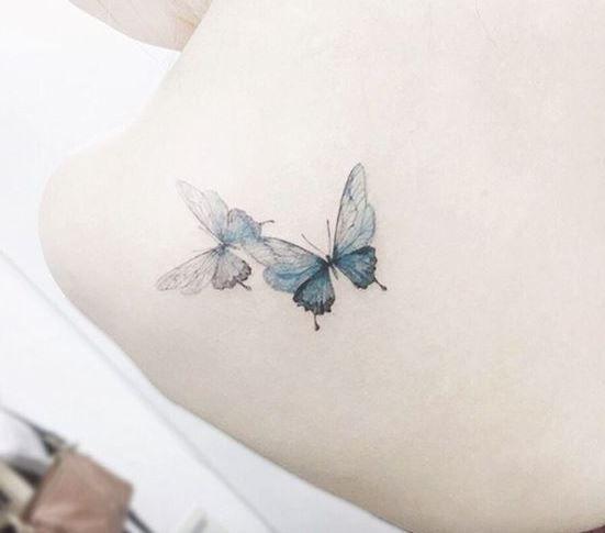 20 tatuagens delicadas de borboletas para você se inspirar