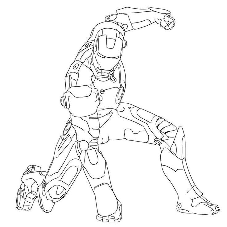 Coloriage Iron Man