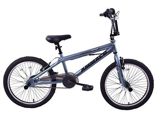 "Ammaco Extreme 20"" Wheel BMX Freestyler Bike Matte Grey & Stunt Pegs 360 Gyro--119.99 Check more at https://www.uksportsoutdoors.com/product/ammaco-extreme-20-wheel-bmx-freestyler-bike-matte-grey-stunt-pegs-360-gyro/"