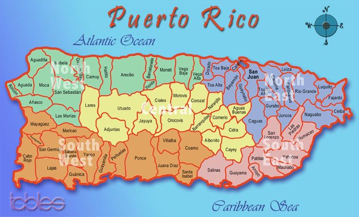 Nuestra isla la conforman 78 municipios o como les decimos; Pueblos. Aqui no se ven Vieques y Culebras que son dos islitas que tambien conforman parte de esos 78. Si Puerto Rico es un mini archipielago para los que no lo saben.