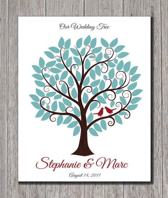 Wedding Guest Tree With Signature Leaves  by MadeForKeepsShop, $30.00