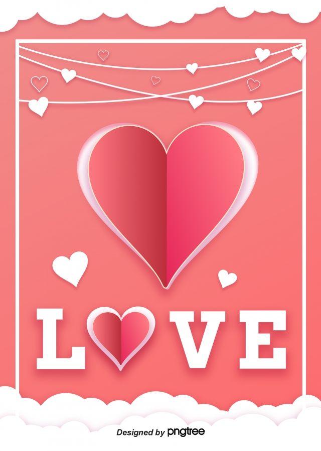 O Amor Romantico Dia Dos Namorados Origami Background Dia Dos