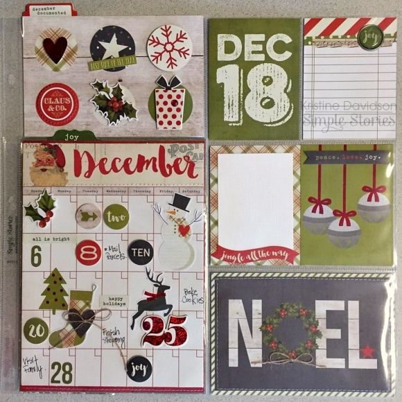 Hello Friends! It's Kristine with you today and I'm here to share a pocket page spread featuring the Claus & Co. Collection.