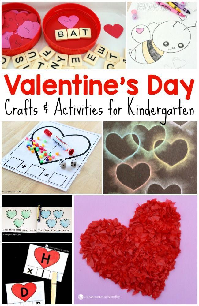 50 Valentines Day Crafts And Activities For Kids Kindergarten