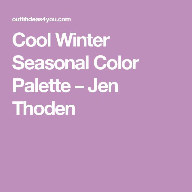 Cool Winter Seasonal Color Palette – Jen Thoden