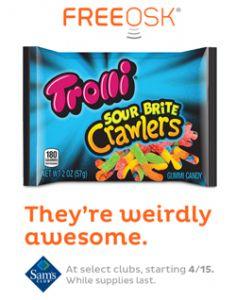 FREE Trolli Sour Brite Crawlers at Sam's Club on http://hunt4freebies.com