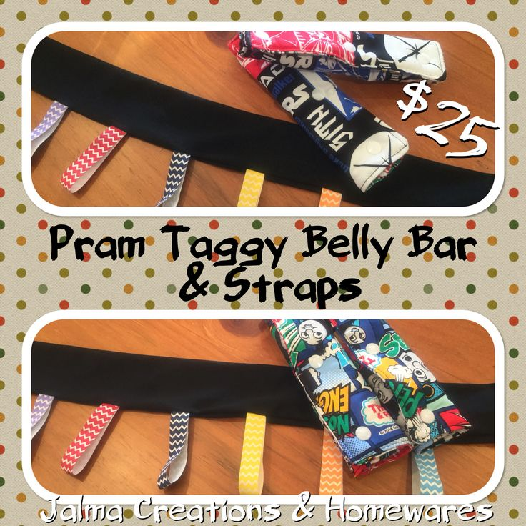Pram Taggy Belly Bar with Shoulder Straps from Jalma Creations & Homewares