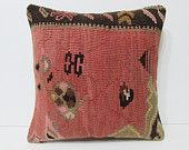 european kilim pillow 18x18 superannuated decorative pillow primitive throw pillow modern pillow sham floor pillow case tribal cushion 24584