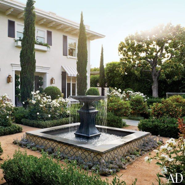 Italianate Garden and Courtyard, Architectural Digest | Camille Styles