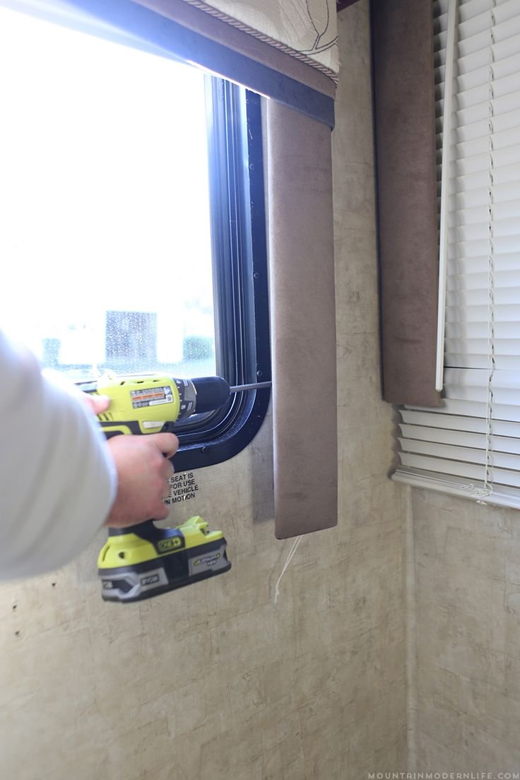 Check Out This Quick Walkthrough On How To Remove Those Hideous Rv Window  Valences, In