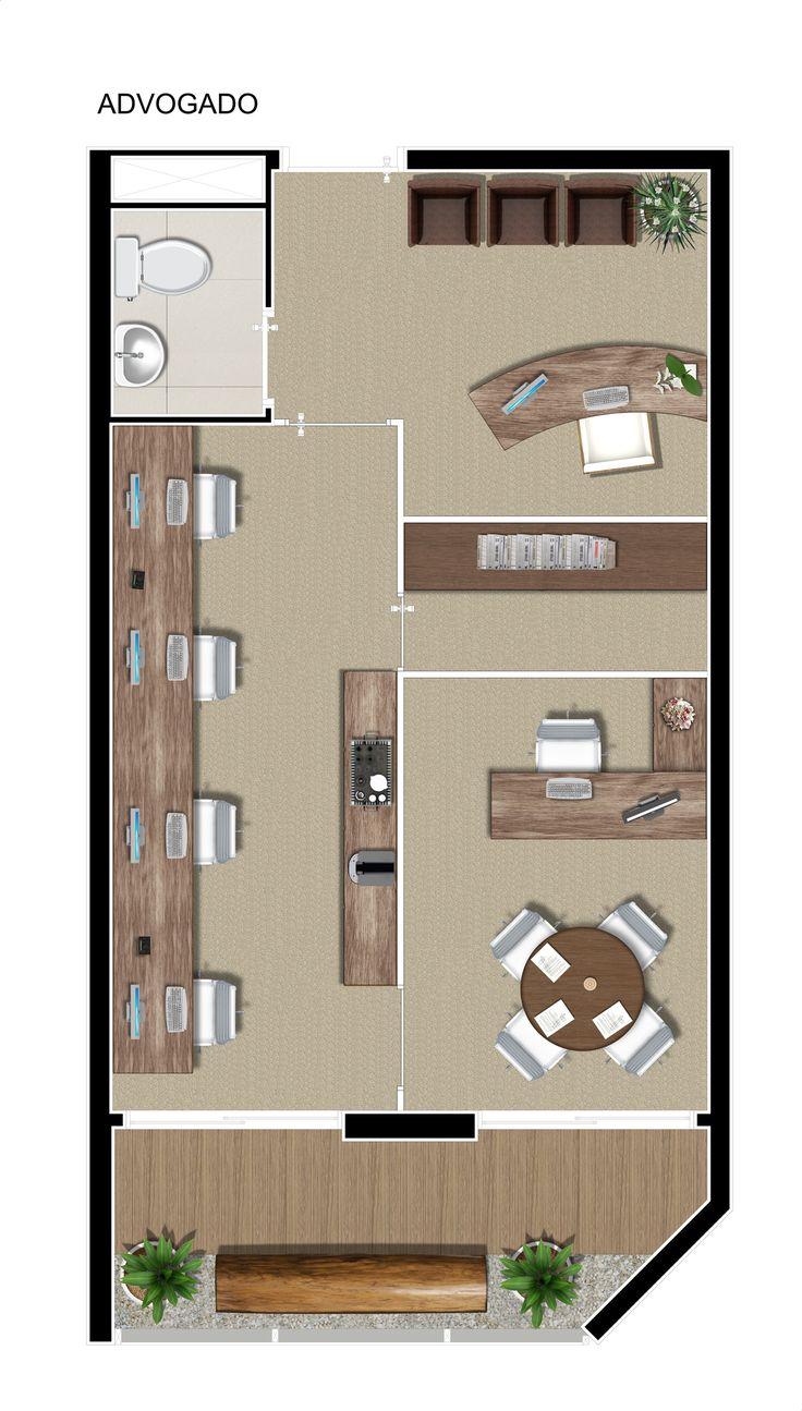 Planta - escritório de advocacia com 37m².