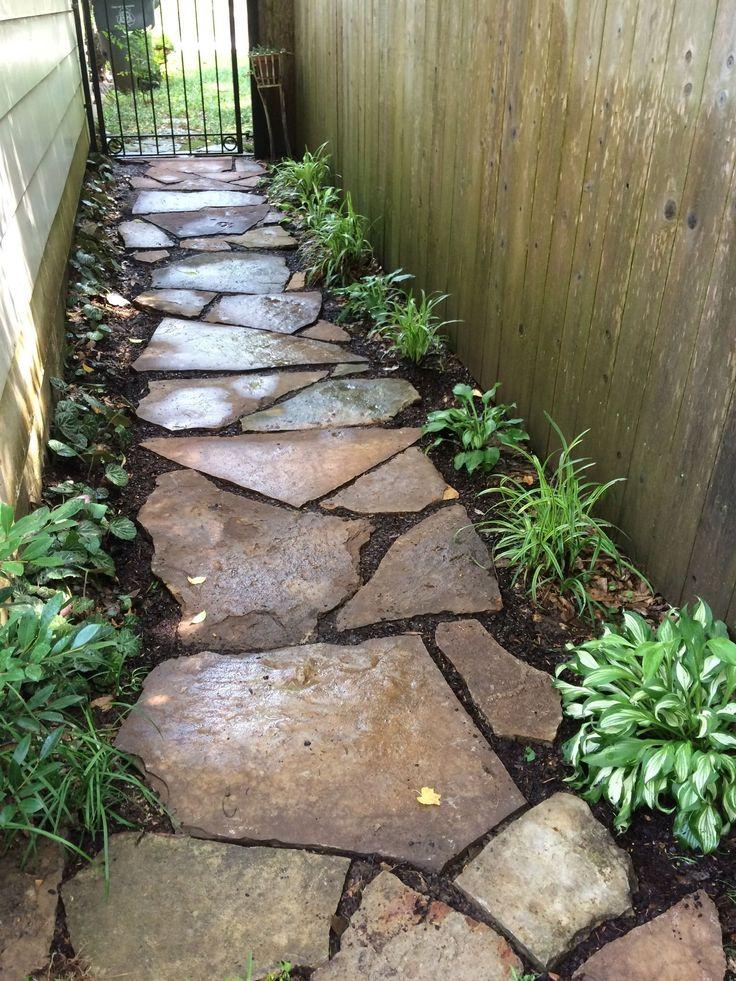 diy garden walkway idea