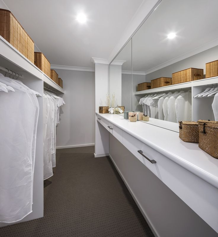 The Oak - Walk in Wardrobe  http://www.newlivinghomes.com.au/display-homes/ #newlivinghomes #walkinwardrobe #design #home