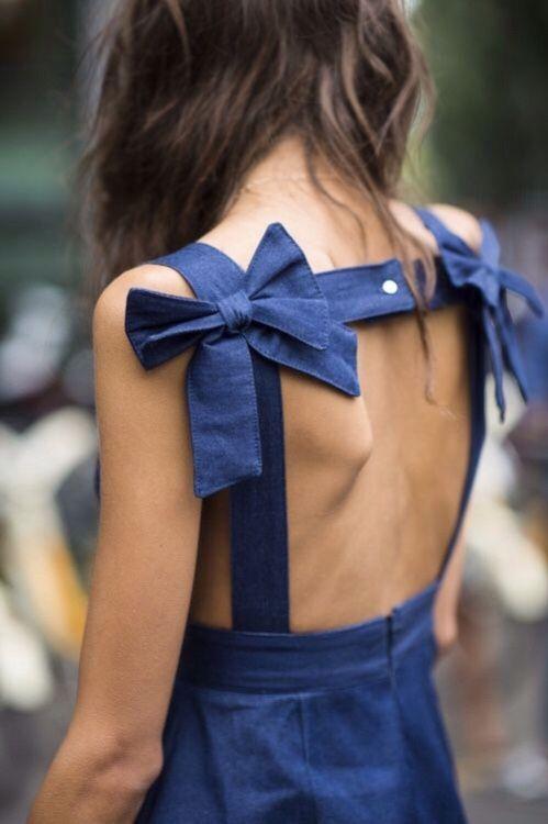 Bow back dress #fashion #pixiemarket