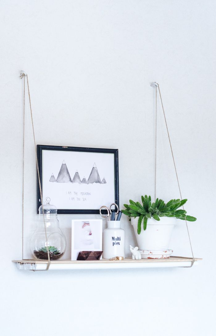 DIY White Wood Shelf Tutorial