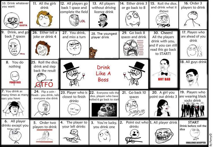 Brettspiel Trinken