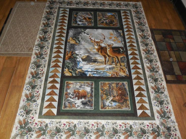 Quilting Patterns Using Panels : 25+ Best Ideas about Wildlife Quilts on Pinterest Panel quilts, Quilting ideas and Fabric panels