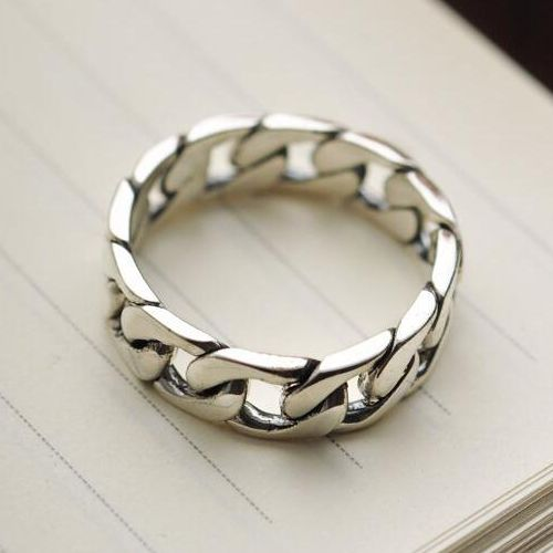 Sterling Silver Chain Band Ring