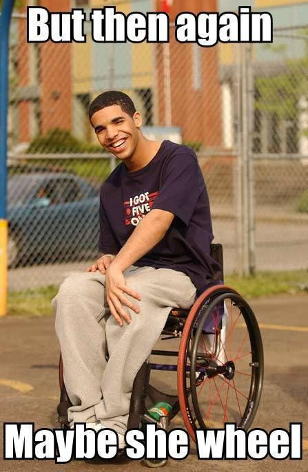 "Pin for Later: Hilarious Drake Memes to Get You Through the Day Drake's Degrassi Character, ""Wheelchair Jimmy"""
