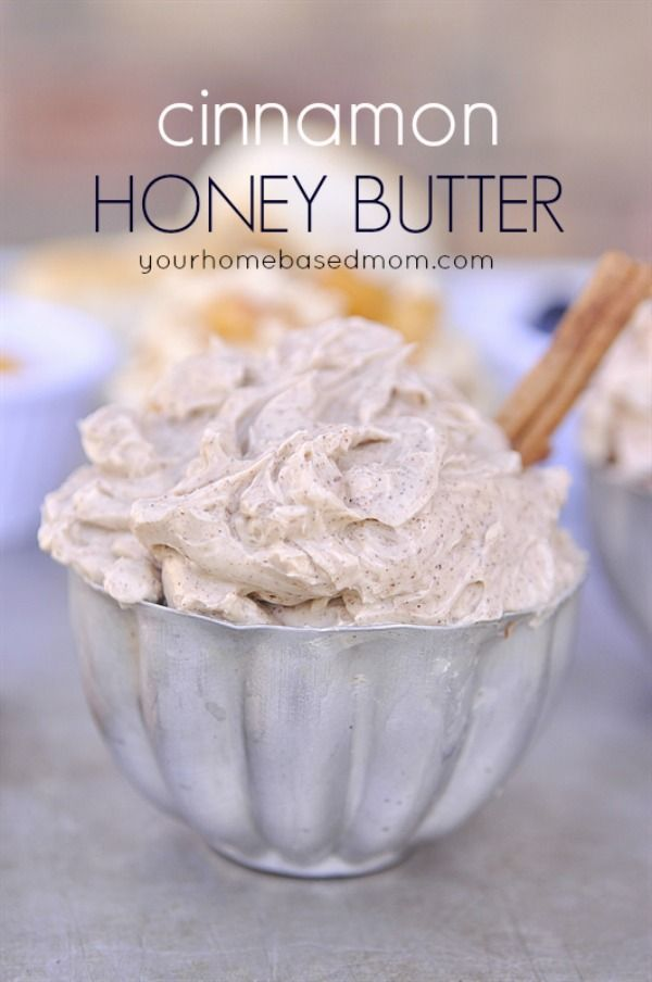 Cinnamon Honey Butter. Great for toasts or as a sweet gift.