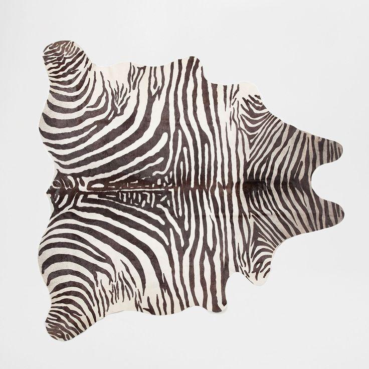 Zebra Printed Leather Rug - RUGS - BEDROOM | Zara Home United Kingdom