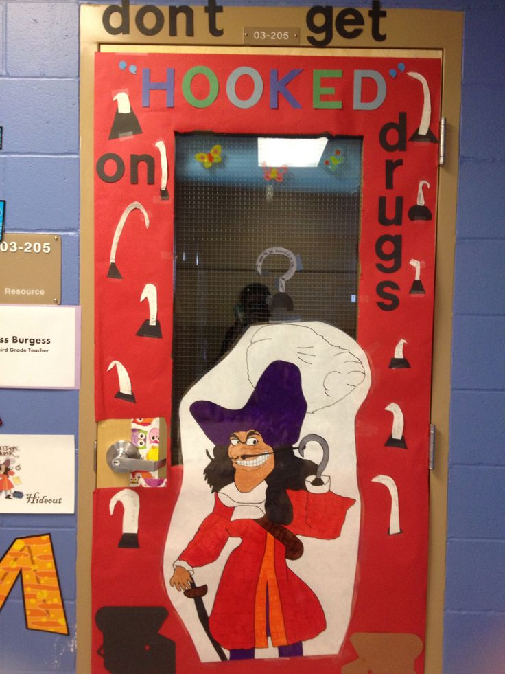 Classroom Hook Ideas : My theme of captain hook for red ribbon week door the