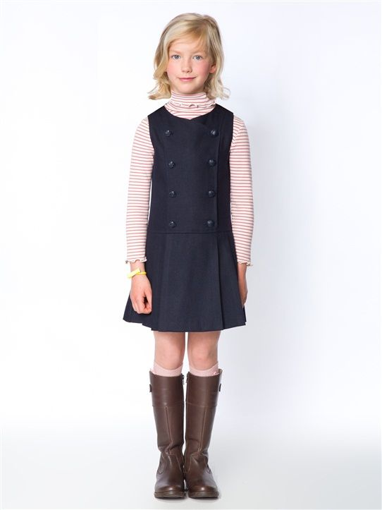ROBE CHASUBLE FILLE LAINE MARINE+CARREAUX FOND CARMIN