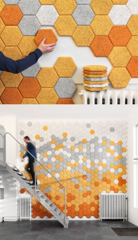 DIY honeycomb walls. So. Cool. Seems like too much work though :)