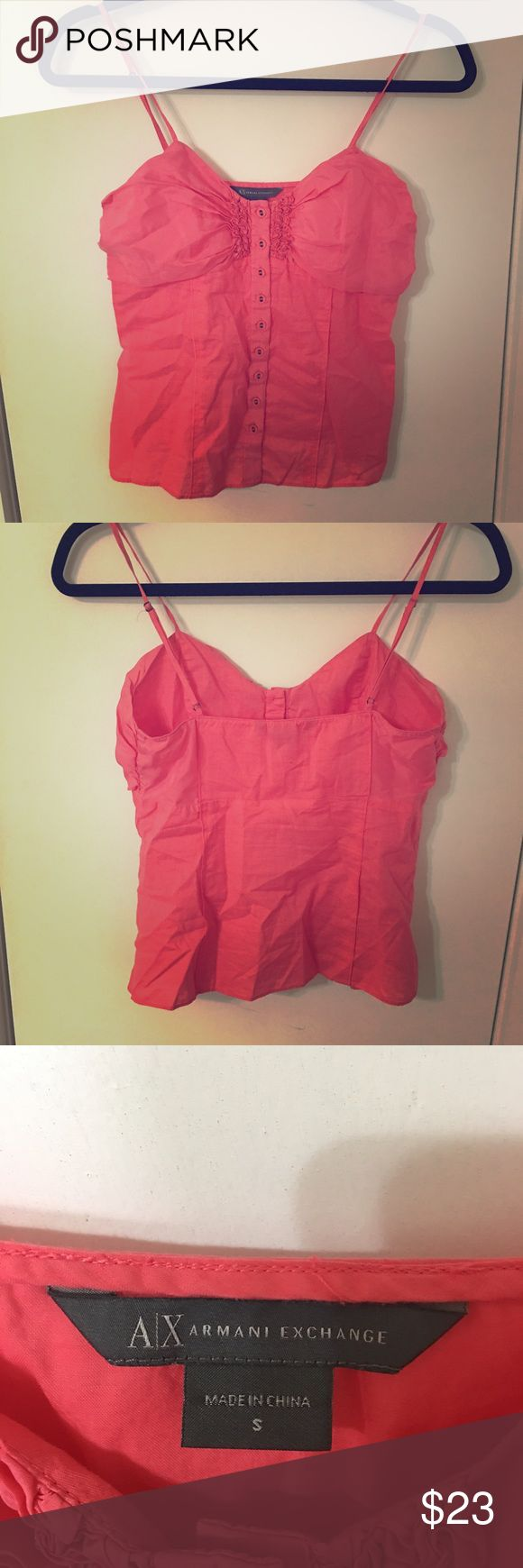 Armani Exchange Camisole size S Super cute pink Armani Exchange camisole size small. Fantastic used condition no spots or holes. Armani Exchange Tops Camisoles