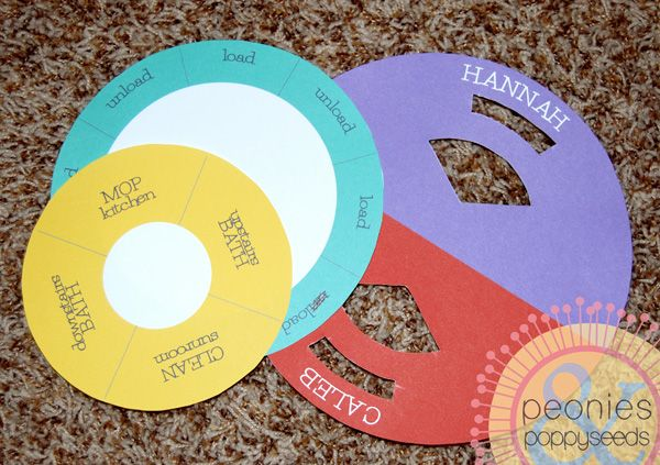 free downloadable chore wheel divide and conquer your