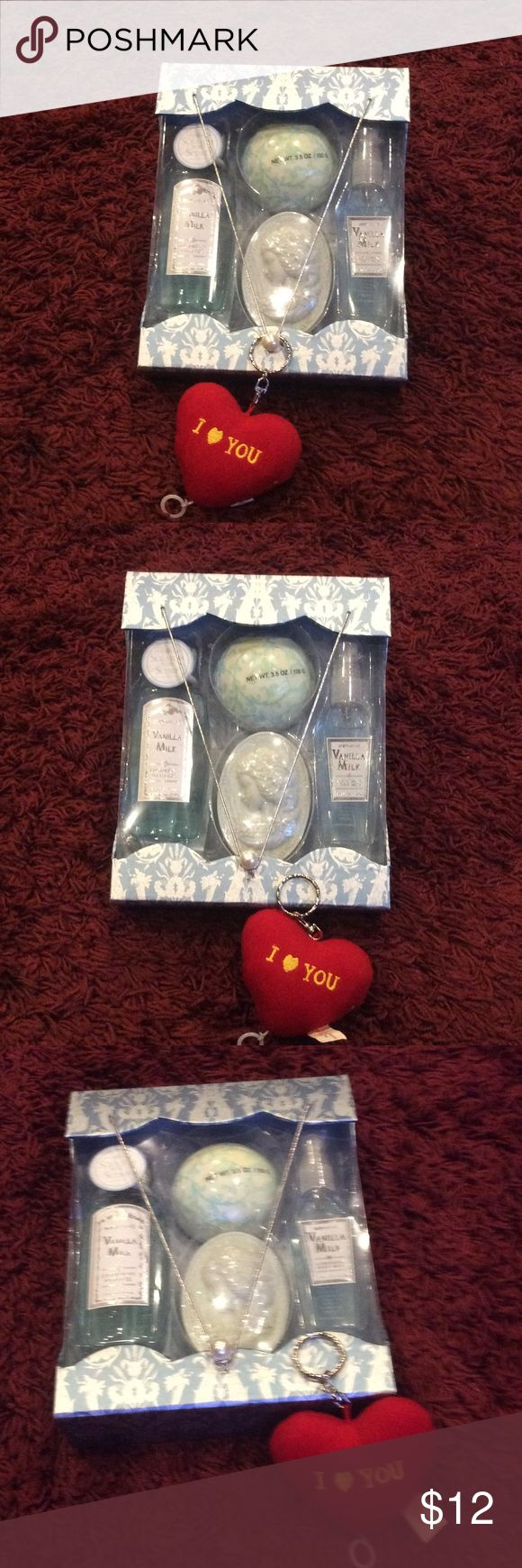 Vanilla milk bath set Brand new milk bath set has luxurious bath gel,soap,body mist &bath fizzes Other