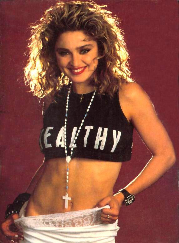 Madonna white dress 80s karaoke