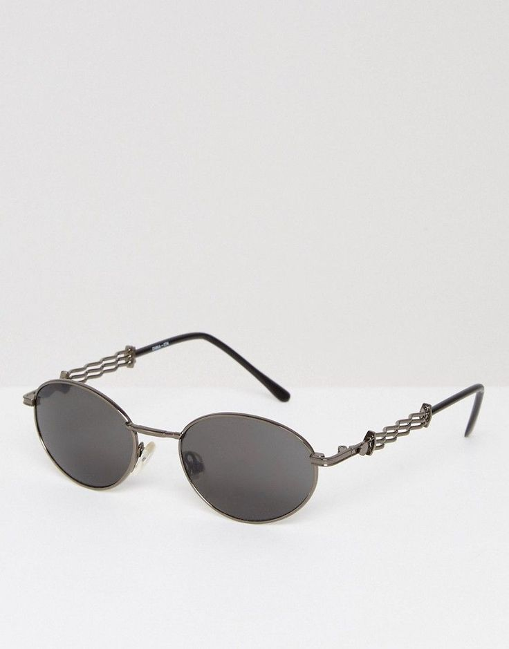 Reclaimed Vintage Inspired Round Sunglasses In Silver - Silver
