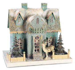 92 best cardboard christmas houses images on Pinterest | Christmas ...