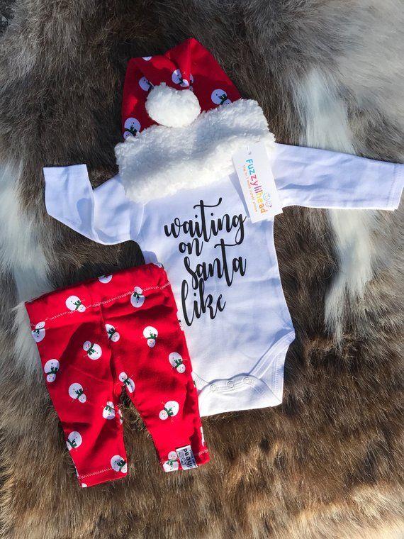 Pre order newborn- 3t outfit/girl / Christmas pajama/holiday season