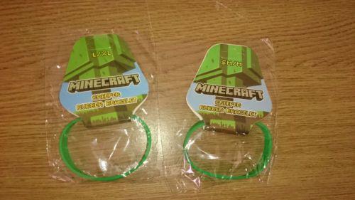 10pcs-Minecraft-Official-Wristband-Bracelet-Party-Bag-Creeper-Diamond-Mojang
