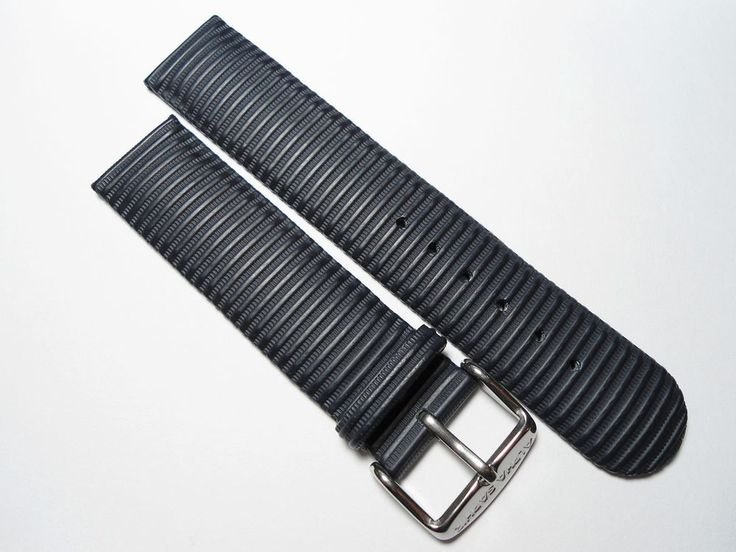 2 x Uhrenarmband schwarz + blau Alpha Saphir Leder-Mix Armband Watch Strap 20 mm