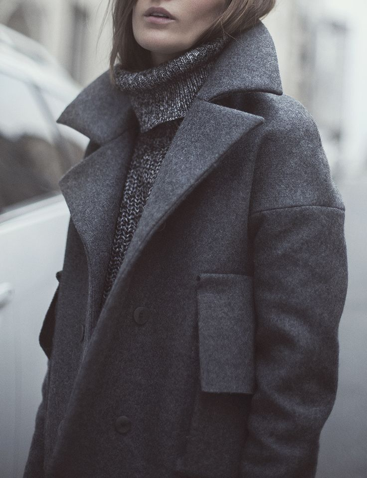 Cozy greys for fall/winter #style #fashion...
