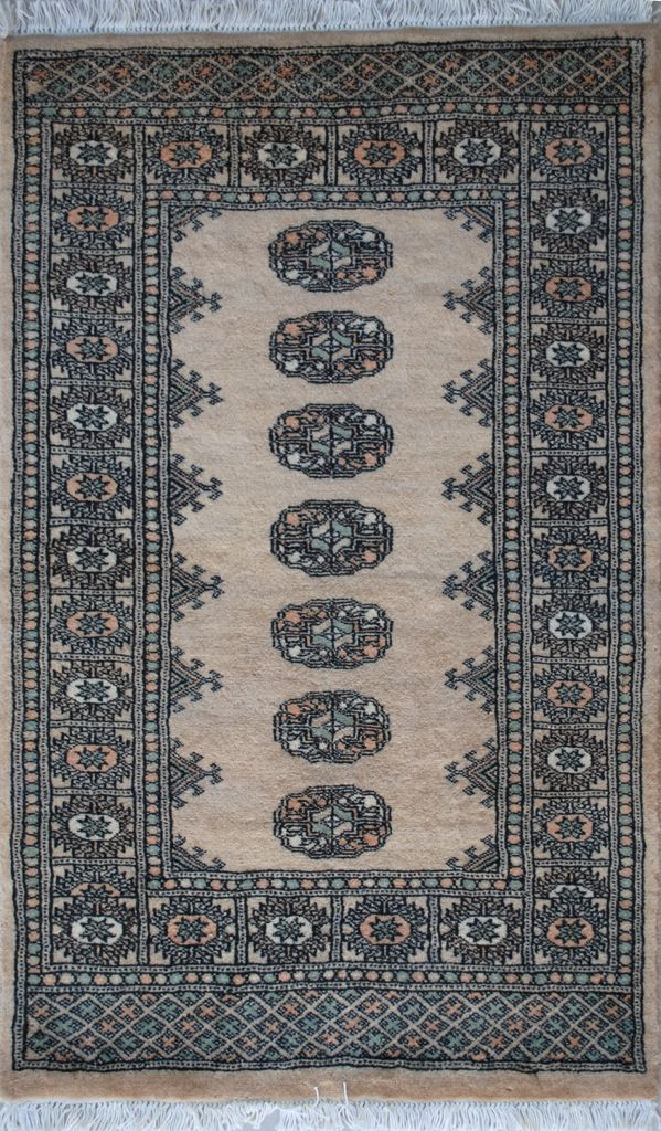 Handmade Woolen Carpet BOKHARA 0,80 x 1,24 cm | ioakeimidis