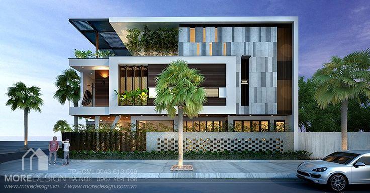 Mẫu thiết kế nhà phố 2 mặt tiền hiện đại 6x20m