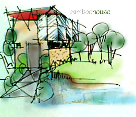 Concept- Bamboo House, design by Private | Ink + Photoshop